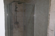 установка штанги с тропическим душем
